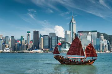 Hong Kong harbour Fotomurales