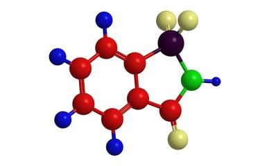 Molecular structure of saccharine