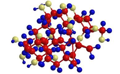 Molecular structure of steviol glycoside (Stevioside)