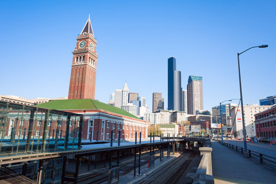 Seattle King Street Station during summer