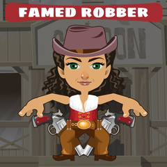 Fictional cartoon character - famed robber