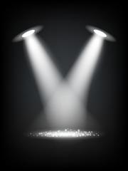Vector Reflector Lights Illustration