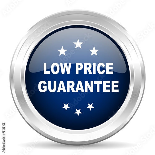 money back guarantee cirle glossy dark blue web icon on