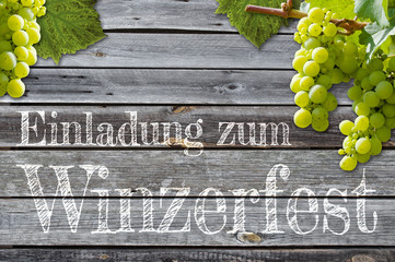 Weintrauben,  Weinfest, Winzerfest, Trauben, Einladung, Weinverkostung