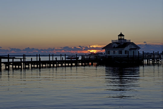 Roanoke Marshes Lighthouse at Sunrise