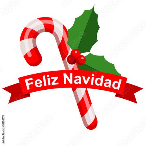 Icono plano cinta feliz navidad con baston rojo fotos de - Cinta de navidad ...