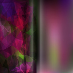 Set of abstract polygon triangles and blurred smooth vector back