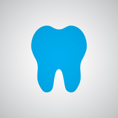 Flat blue Tooth icon