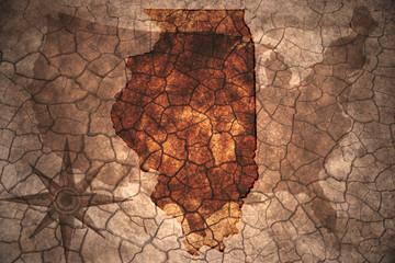 vintage Illinois state map