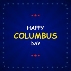 Columbus Day on abstract background. Vector