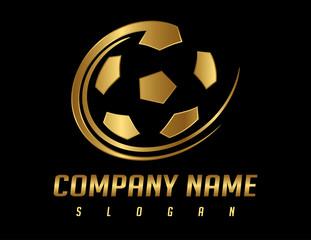 Golden ball logo