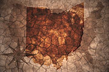 vintage Ohio state map