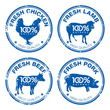 Fresh meat stamps 001