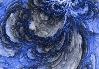 Blue Fancy Beautiful background made up of a fractal color texture that is suitable for use in projects on imagination, creativity and design