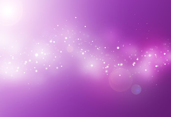 Purple ray  bokeh glitter defocused lights abstract background