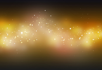 Gold ray  bokeh glitter defocused lights abstract background