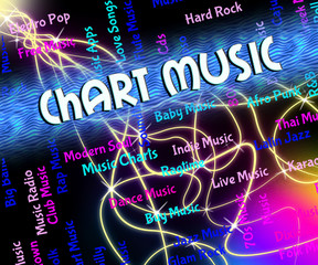 Chart Music Shows Sound Tracks And Audio