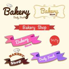 Different design of bakery banner