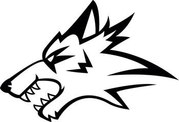 Wolf symbol illustration design