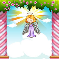 Angel flying in the sky