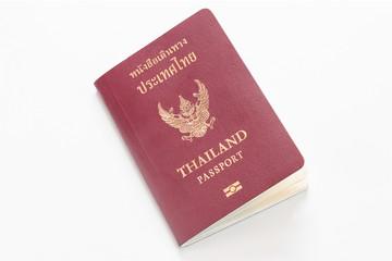Thai passport isolated on white background.