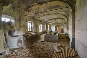 Old abandoned basement