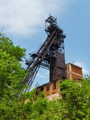 Iron ore mine headgear