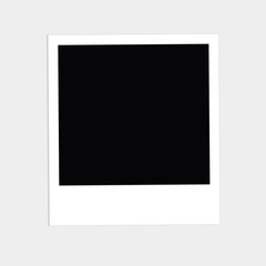 Instant big photo. Flat design style. White background. Template.