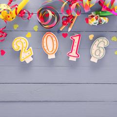 2016 New Year festive background