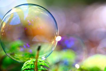unusual bubble background nature