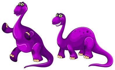 Purple brachiosaurus standing on two legs
