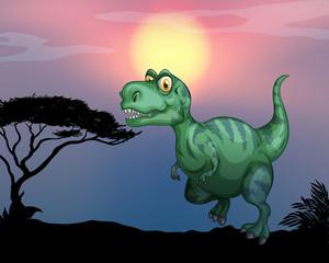 Tyrannosaurus rex in the field