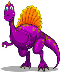 Purple dinosaur with sharp claws
