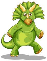 Green rubeosaurus standing on two legs