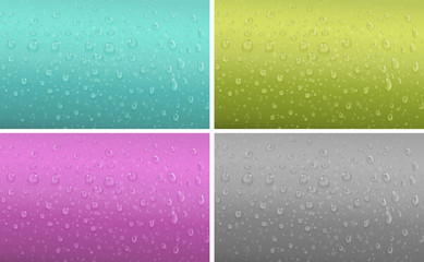 Four background patter with water drop