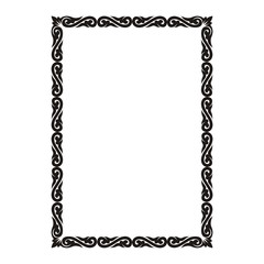 rectangular frame with ornament.