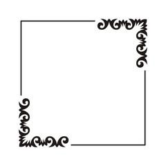 square frame with corner ornament.
