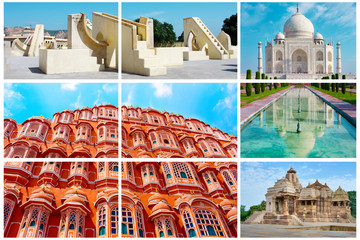 Collage of  Indian landmarks
