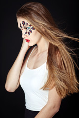 Faceart of a beautiful young girl