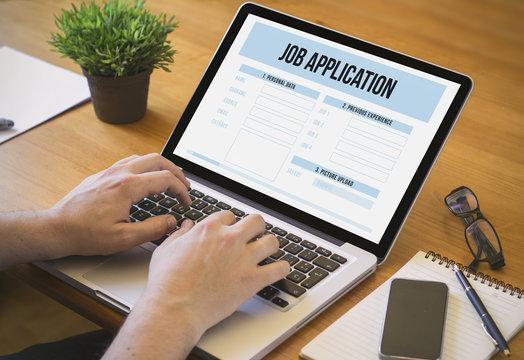 computer desktop job application