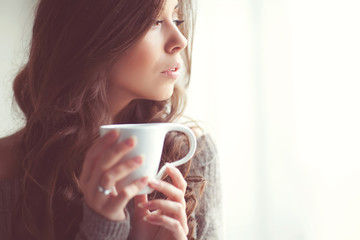 Sexy woman are enjoying the coffee