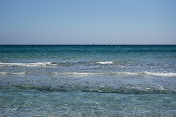 Clear Mediterranean sea water.