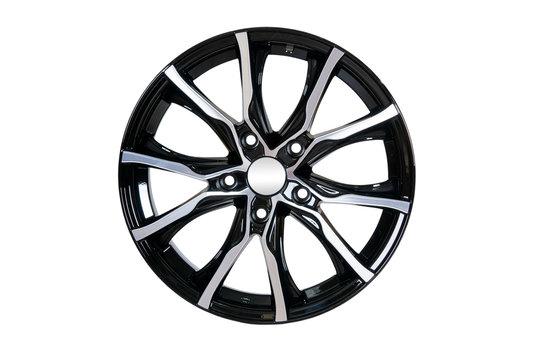 Car wheel Rim isolated on white.