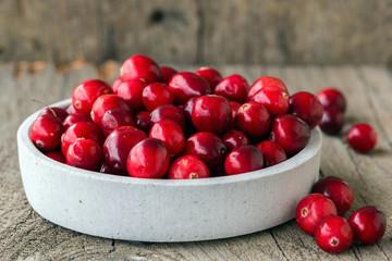 Schälchen mit Cranberrys