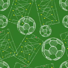 Soccer / Football seamless pattern vector abstract background