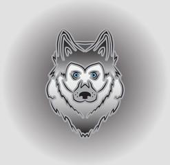 Vector icon logo huskies head