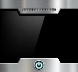 Futuristic black screen.