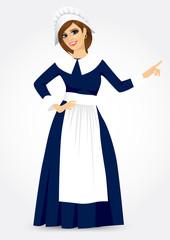 thanksgiving of a pilgrim woman