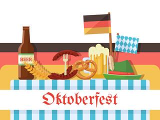 Oktoberfest celebration illustration or banner