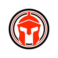 Spartan Helmet Circle Emblem